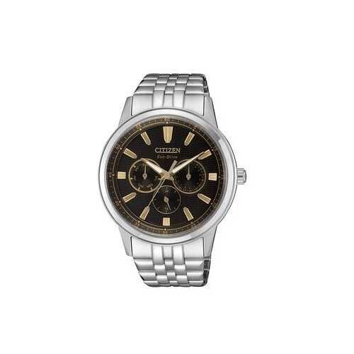 Citizen BU2071-87E Silver Stainless Steel Black Dial Men's Multifunction Watch