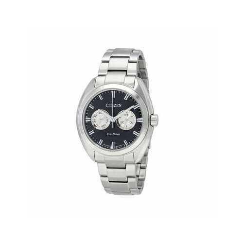 Citizen BU4010-56E Silver Stainless Steel Black Dial Men's Eco-Drive Watch