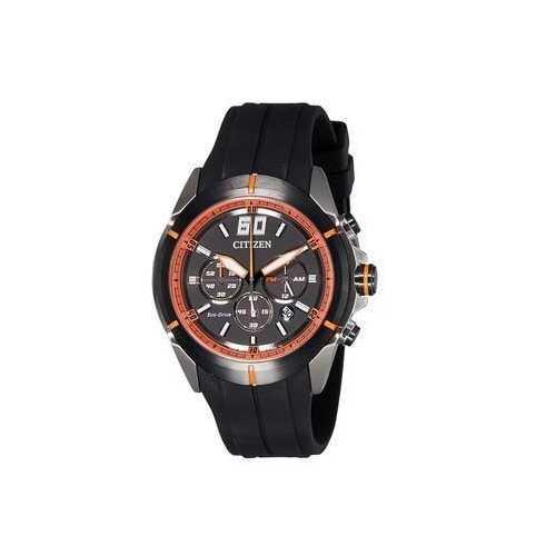 Citizen CA4105-02E Black Dial Men's Black Rubber Chronograph Eco-Drive Watch