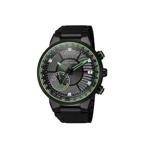 Citizen CC3075-80E Satellite Wave GPS Black IP Stainless Steel Eco-Drive Watch
