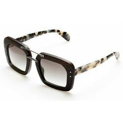 Category: Dropship Eyewear, SKU #6653620224185, Title: Prada PR30RS-UBT0A7 Ebony Malabar Grey Gradient Lens Sunglasses