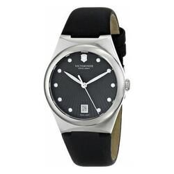 Category: Dropship Watches, SKU #6653706830009, Title: Victorinox Swiss Army 241632 Women's Anthracite Dial Black Strap Quartz Watch