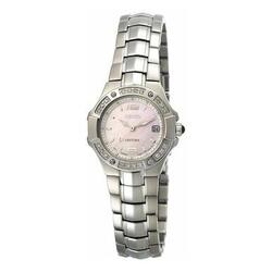 Category: Dropship Watches, SKU #6653756768441, Title: Seiko SXD691 Coutura Silver Tone Diamond Accented Bezel Mother of Pearl Dial Women's Watch