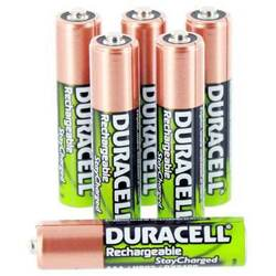 Duracell AAA NiMH 800mAh HR03 Rechargeable StayCharged 1.2V Batteries - 12 Pack Bulk