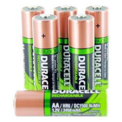 Duracell AA NiMH 2450mAh DC1500 Rechargeable Duralock 1.2V Batteries - 12 Pack Bulk