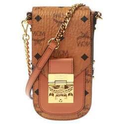 Category: Dropship Travel & Bags, SKU #6654023270585, Title: MCM Patricia Mini Cognac Leather Shoulder Bag