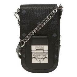 Category: Dropship Travel & Bags, SKU #6654023336121, Title: MCM Patricia Mini Black in Visetos Leather Shoulder Bag