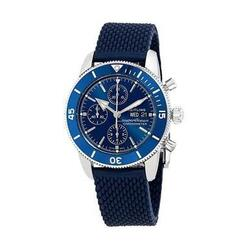 Breitling A13313161C1S1 Superocean Heritage II Blue Dial Aero Classic Rubber Chronograph Watch