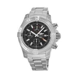 Breitling A13375101B1A1 Super Avenger Stainless Steel Black Dial Men's Chronograph Watch