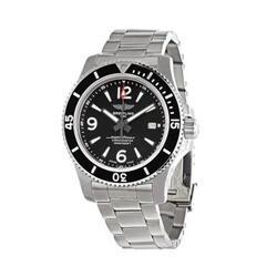 Breitling A17367D71B1A1 Superocean 44 Stainless Steel Black Dial Men's Chronometer Watch