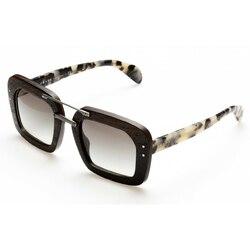 Category: Dropship Vendors, SKU #70256, Title: Prada PR30RS-UBT0A7 Ebony Malabar Grey Gradient Lens Sunglasses