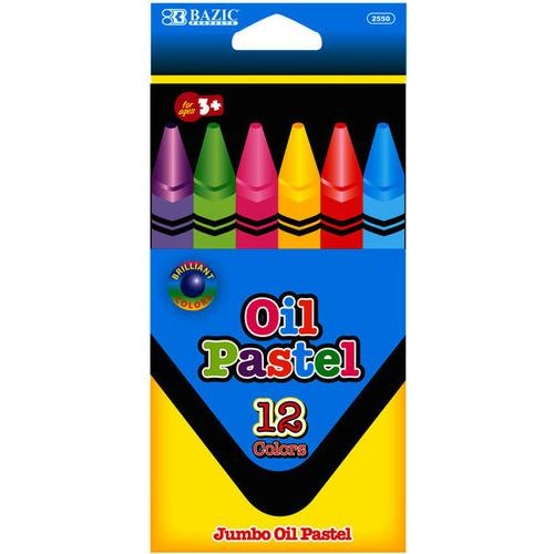 Case of [24] Bazic 12 Color Jumbo Oil Pastels