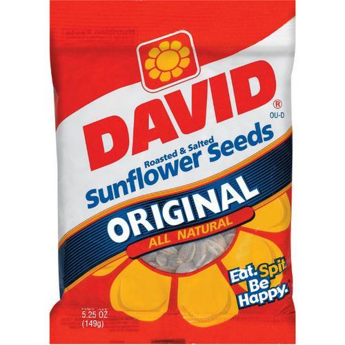 Case of [12] David Sunflower Seeds 5.25 Oz
