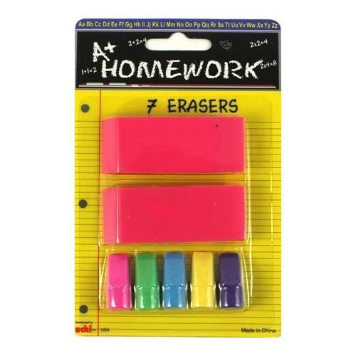 7 piece Eraser Set
