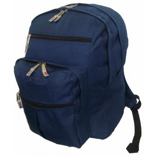 "Case of [24] 18"" Premium Multi-Pocket Backpack - Navy"