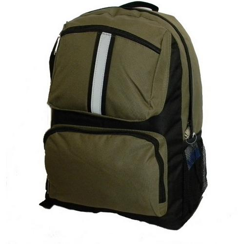 "Case of [30] 17"" Classic Reflective Backpack - Olive Green"