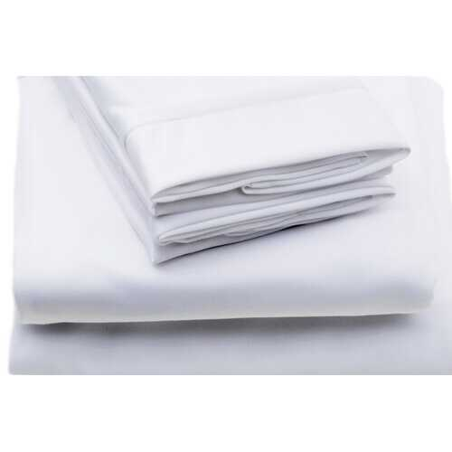 """Case of [24] Twin Size Fitted White Sheet - 39"""" x 75"""" x 7"""""""