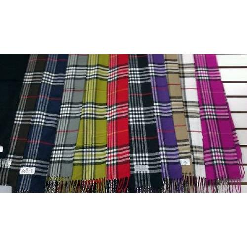 Case of [120] Plaid Cashmere-Feel Scarves - Assorted
