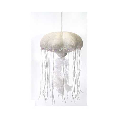 "Case of [12] 14"" White Glittered Jellyfish Plush Toy"