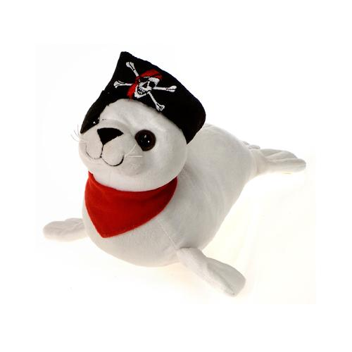 "Case of [24] 14.5"" Pirate Seal Plush Toy"