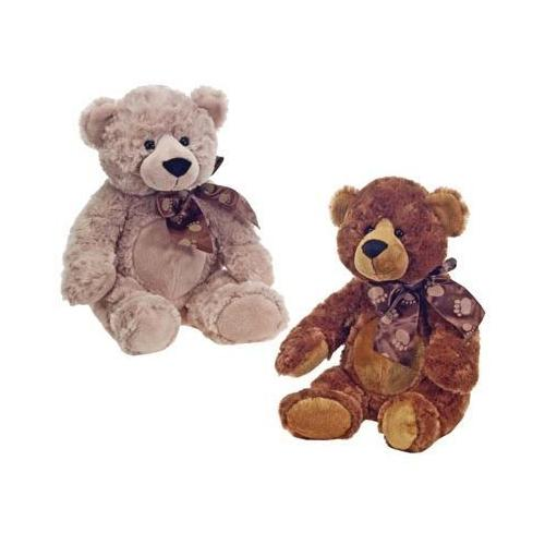 """Case of [24] 16"""" Cuddle Bear Plush Toy - Assorted Colors"""
