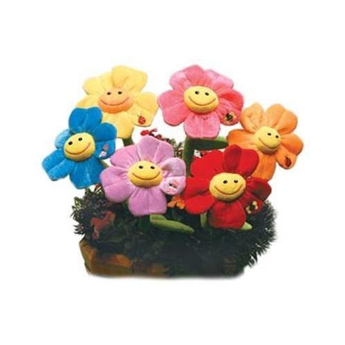 """Case of [48] 18"""" Flowers With Bug Plush Toy - Assorted Colors"""