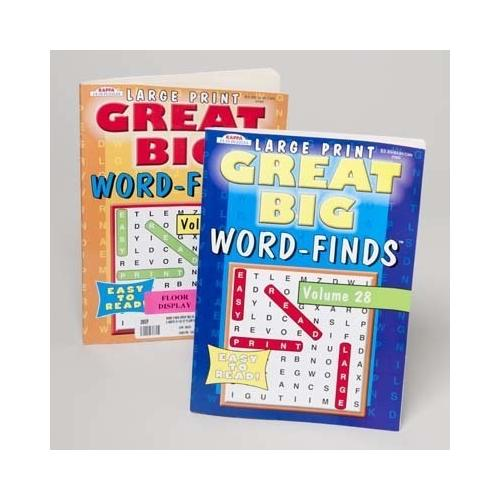 Case of [120] Great Big Word Finds Book - Large Print