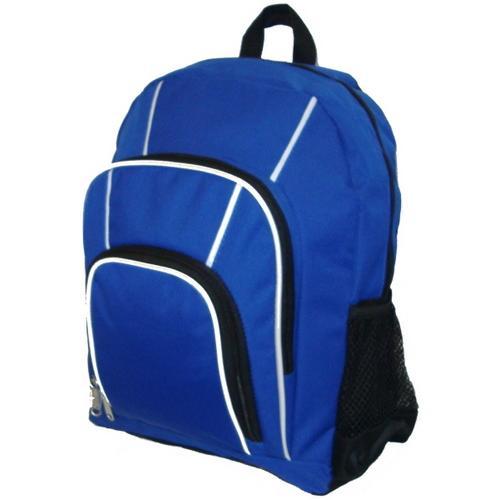 "Case of [30] 15"" Classic Multi-Pocket Backpack - Blue"