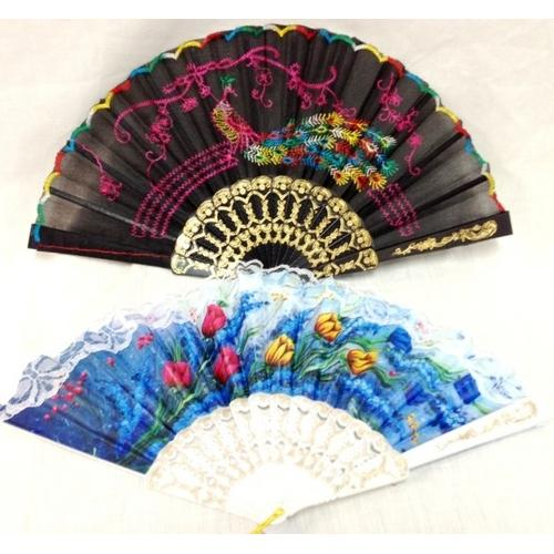 Case of [120] Hand Fans Assorted Styles
