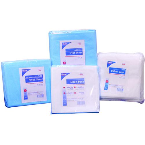 "Case of [10] Dukal Flat Sheet, Heavy Duty, Fluid Impervious, Light Blue, 84""x60"", Non-Sterile"