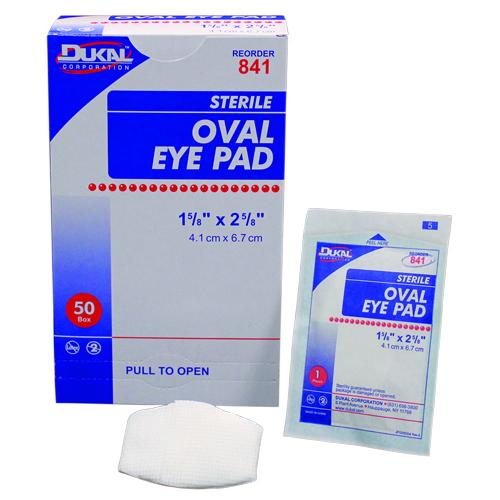 "Case of [1000] Dukal Sterile Oval Eye Pad 1-5/8""x2-5/8"""