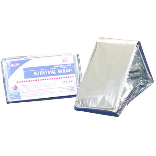 "Case of [250] Dukal Survival Wrap Blanket, Silver, 52"" x 84"""