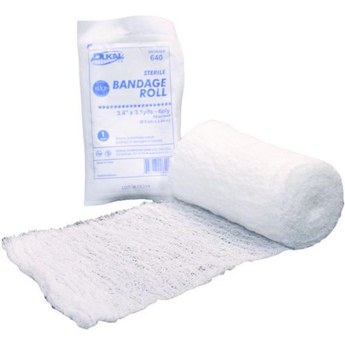 """Case of [100] Dukal Fluff 6-Ply Non-Sterile Bandage Roll 4.5""""x4.1YD"""