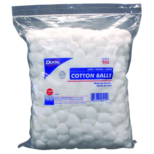 Case of [2] Dukal Cotton Balls - 1000 Count, Large