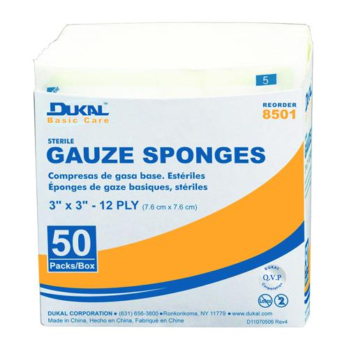 "Case of [10] Dukal Basic Care Non-Sterile Gauze Sponge 4"" x 4"" 200 Count"