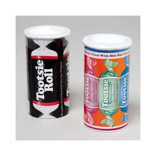 Case of [120] Tootsie Roll Bank 2 Assorted 4 Ounce Display