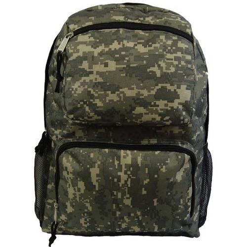 "Case of [30] 18"" Classic Multi-Pocket Backpack - Camo"