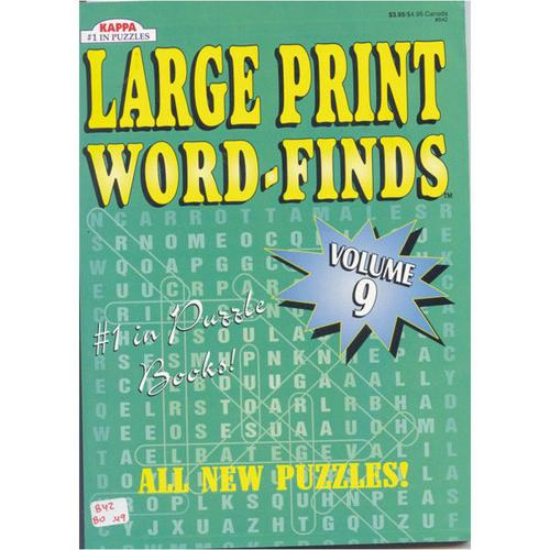 Case of [48] Large Print Word Find - Full Size