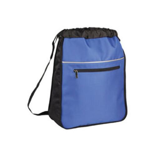 """Case of [48] 16"""" Classic Expandable Drawstring Backpack - Royal"""