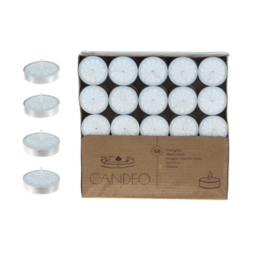 Case of [20] 50-Piece Unscented Tea Light Candles - White