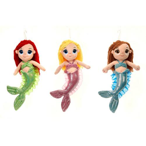 """Case of [24] 12"""" Mermaid Plush Toy - Assorted Styles"""