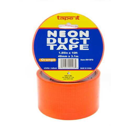 "Duct Tape Neon Orange 1.89"" x 10ft"