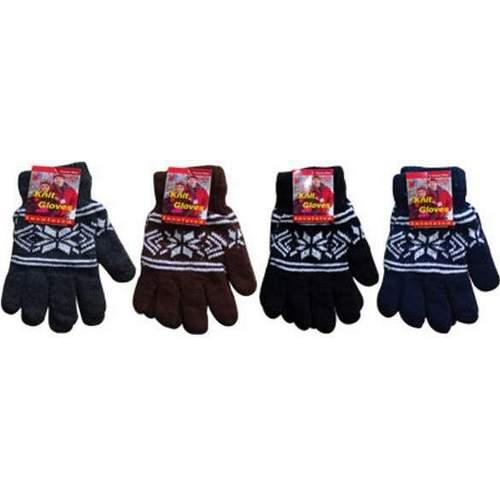 Case of [144] Adult Knitted Snowflake Gloves