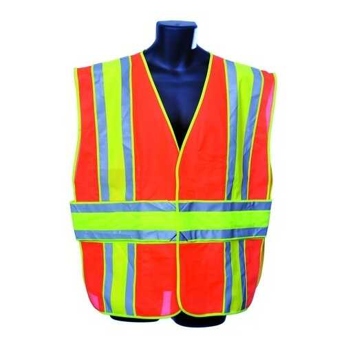 Case of [10] Orange Class II Safety Vest Large