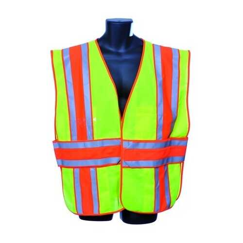 Case of [10] Green Class II Safety Vest 2XL