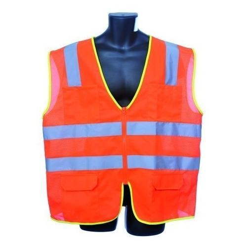 Case of [30] Class II Zipper Front Orange Safety Vest Large