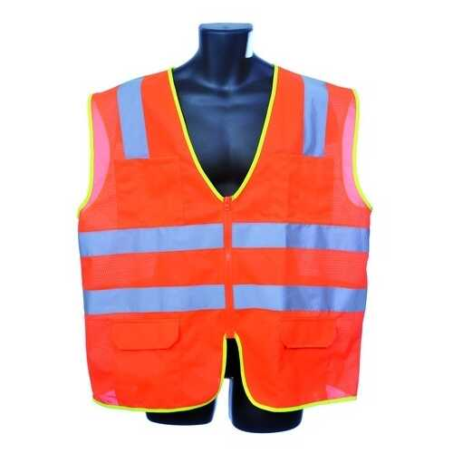 Case of [30] Class II Zipper Front Orange Safety Vest 2XL