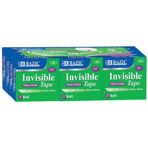 "Case of [144] BAZIC 3/4"" X 1296"" Invisible Tape Refill"