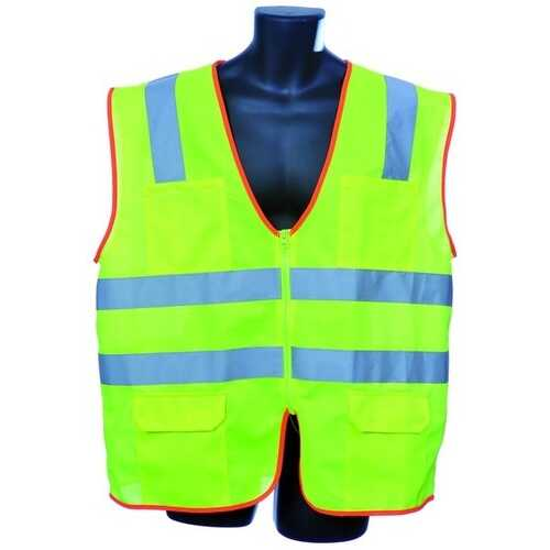 Case of [30] Class II Zipper Front Green Safety Vest Large