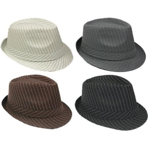 Case of [72] Fedora Hat with Pinstripes